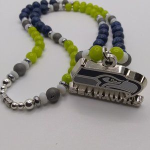 Natural Stone Seattle Seahawks beaded chain 😎